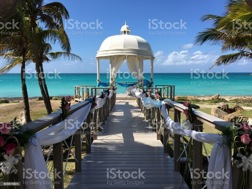 Celebration on the beach, Cuba stock photo