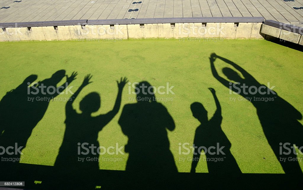 Celebration Shadows stock photo