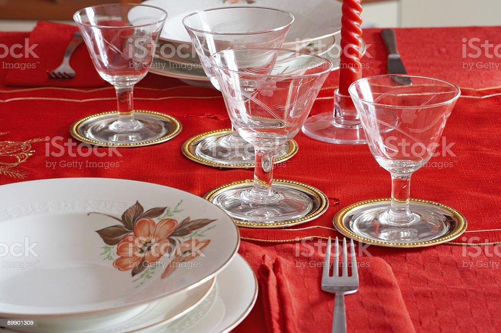 Celebración de una mesa foto de stock libre de derechos