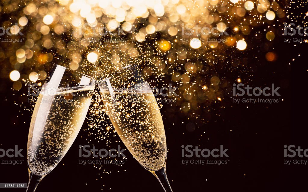 Celebration toast with champagne - Royalty-free Alegria Foto de stock