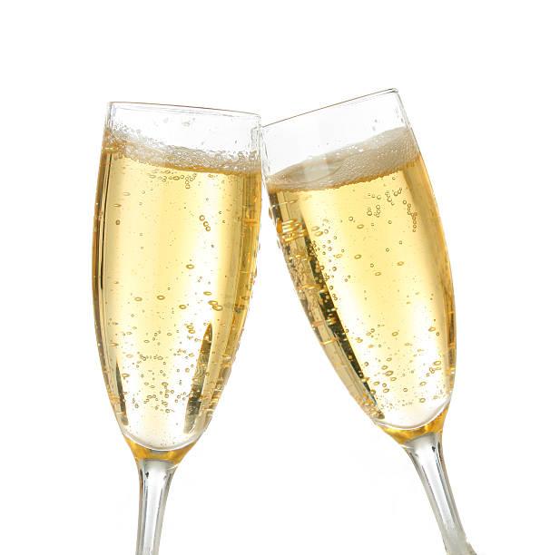Celebration toast with champagne stock photo