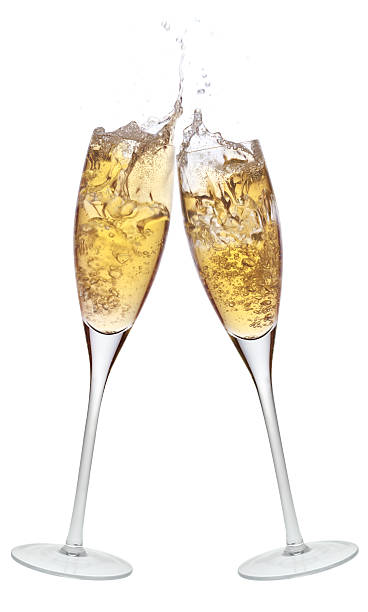 Celebration toast with champagne. stock photo