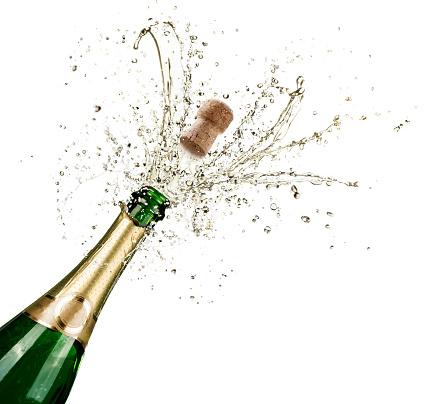 Foto de Celebração Com Salpicos De Champanhe e mais fotos de stock de Abrindo