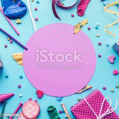istock 2019 Celebration,party concepts ideas with colorful element,gift box present,confetti,balloon 1053553084
