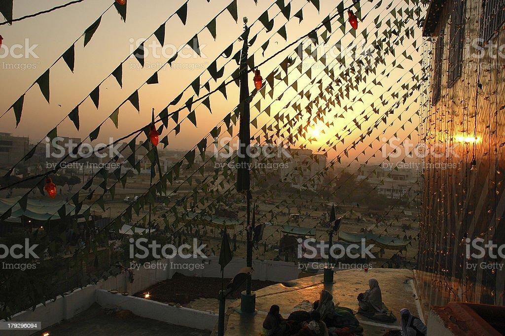 Celebrations at Hazrat Abdullah Shah Ghazi (RA) stock photo