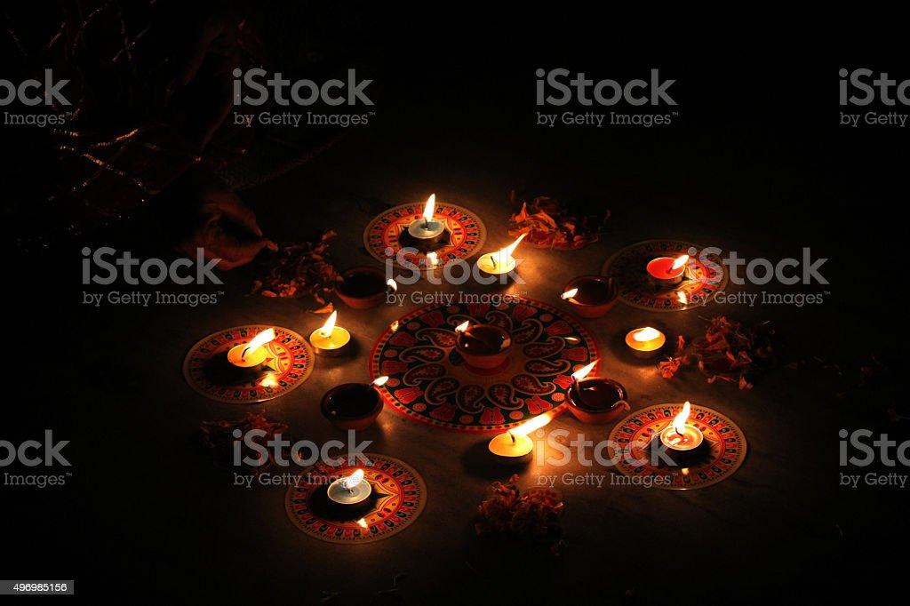 Celebrations at night stock photo