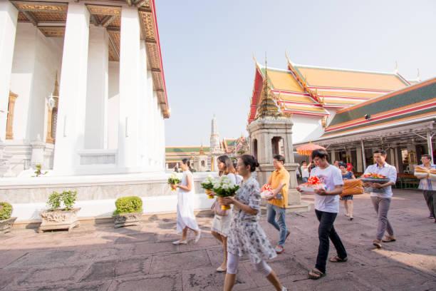 Feiern in Thailand Tempel – Foto