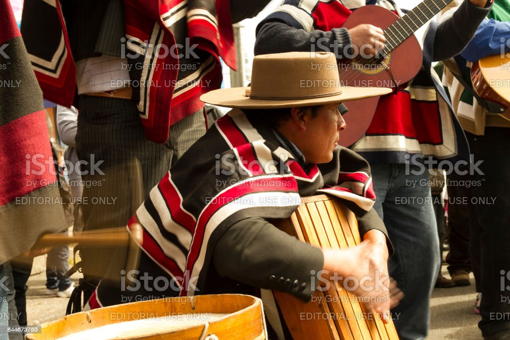 Celebrations of Chile's Independence Day stock photo
