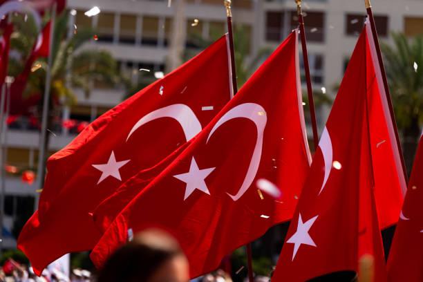 viering van de 19 mei 2019 memoriam van mustafa kemal ataturk - turkse etniciteit stockfoto's en -beelden