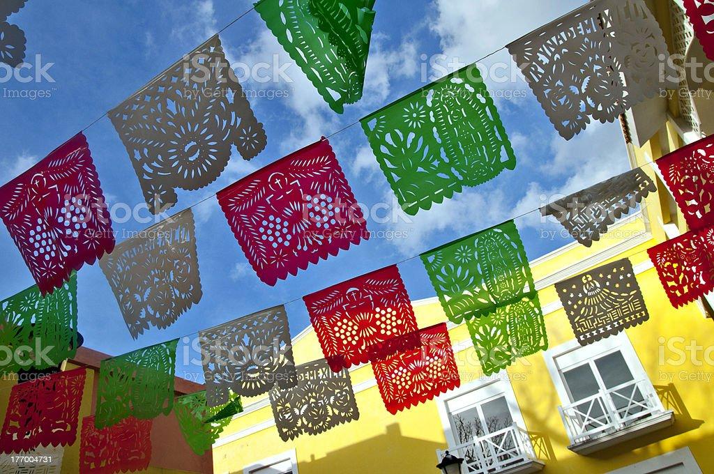 Celebraciones banderas de México - foto de stock