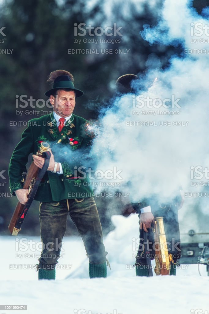 Celebratory gunfire performed by the shooters from the Association of...