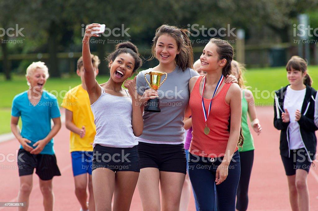 Celebratory Selfie stock photo