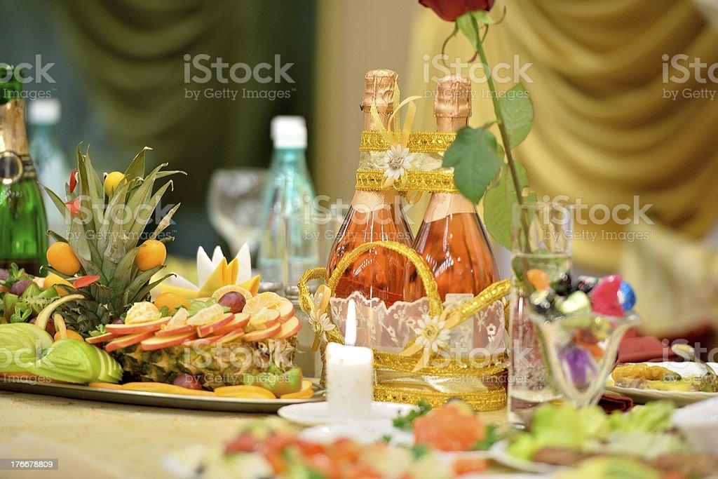 Celebratory table royalty-free stock photo