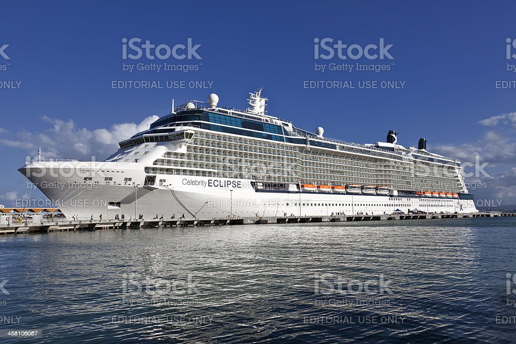 Celebrity Eclipse Cruise Ship stock photo