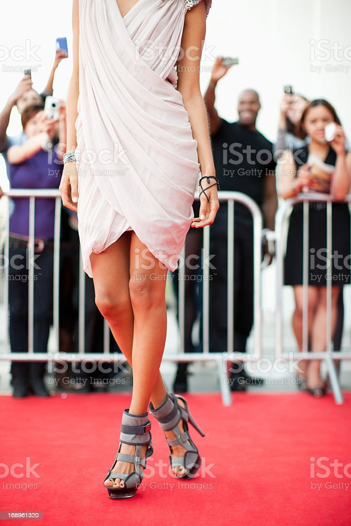 Celebrity on red carpet royalty-free stock photo