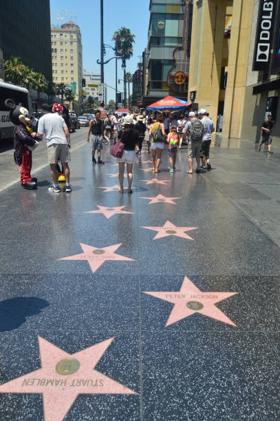 Celebrity Stars On Walk Of Fame In Hollywood Boluvedard. Celebrity Stars On Walk Of Fame In Hollywood Boluvedard. July 7, 2017. Hollywood Los Angeles California. USA. EEUU walk of fame stock pictures, royalty-free photos & images
