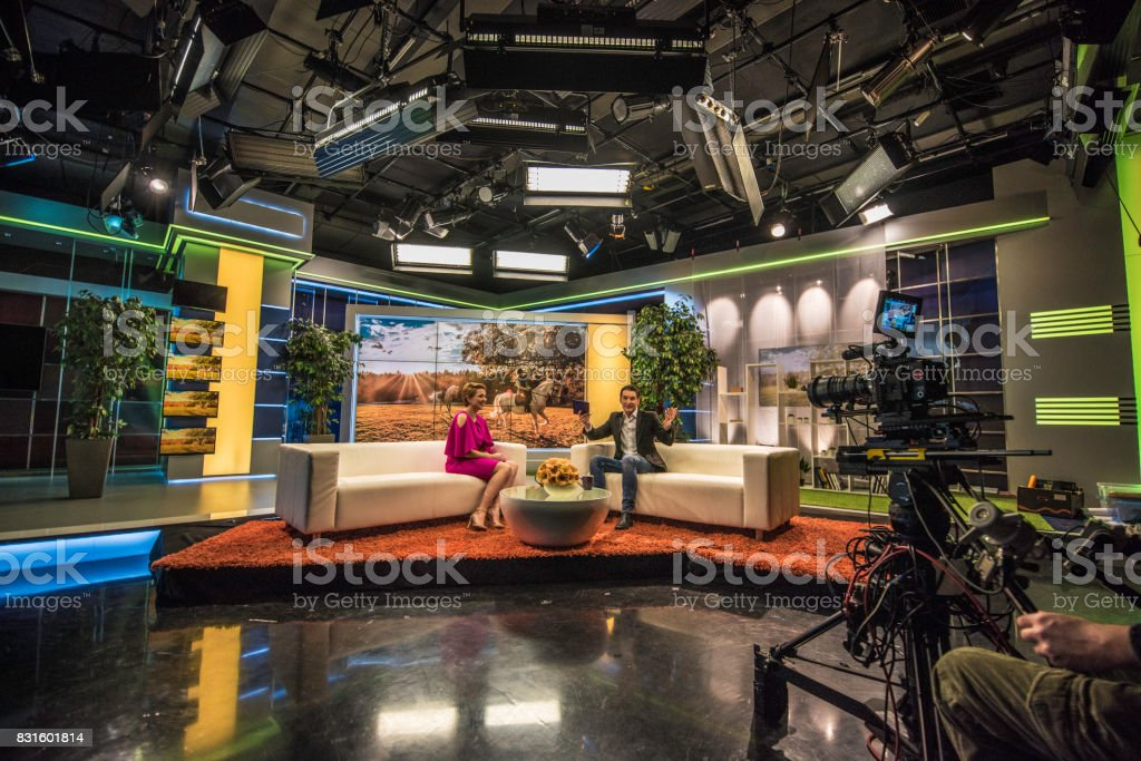 Celebrity talk show stock photo