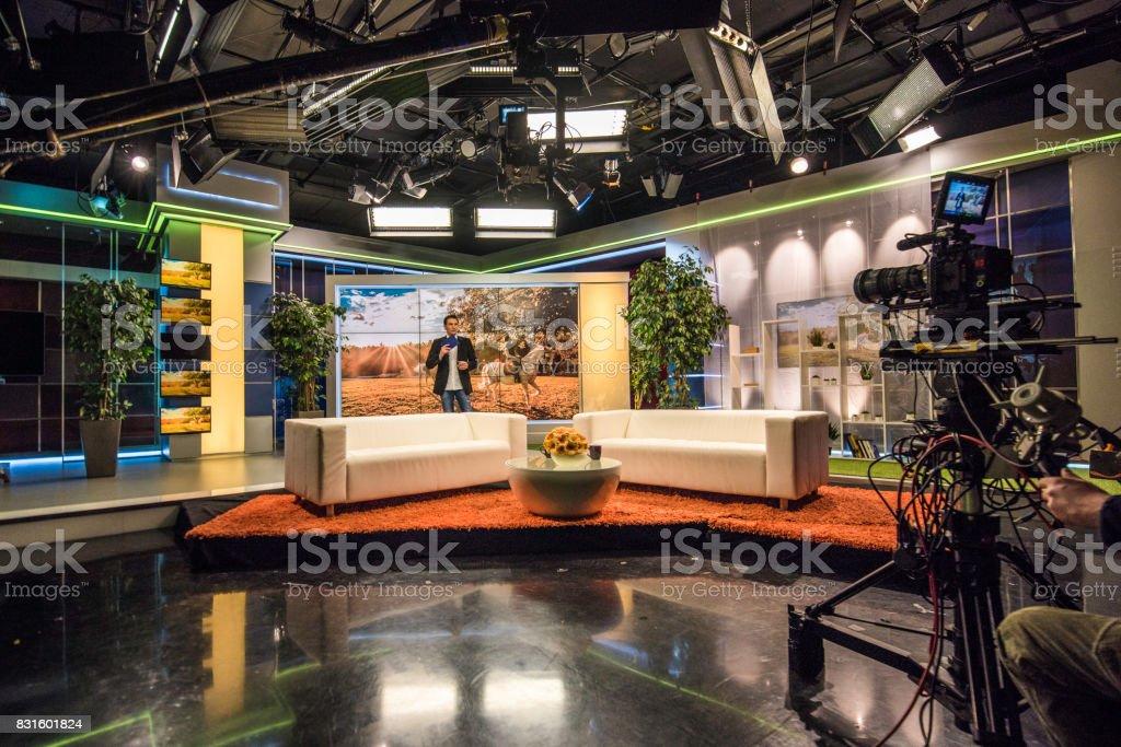 Celebrity talk show stock photo