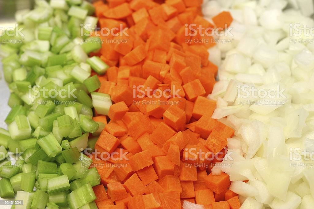 Celery, Carrots and Onions stock photo