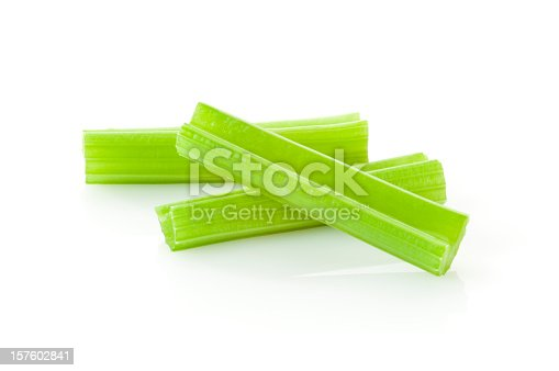 Fresh Celery Sticks on White. Now available With Clipping Path File 16527201.