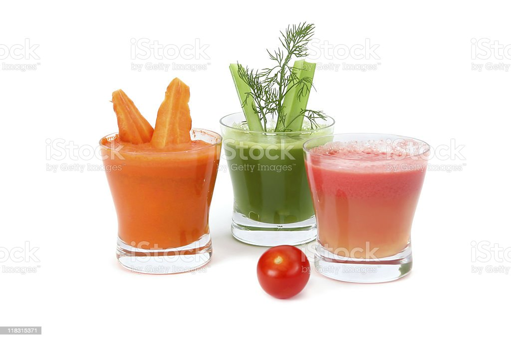 celery, tomato and carrot juice royalty-free stock photo