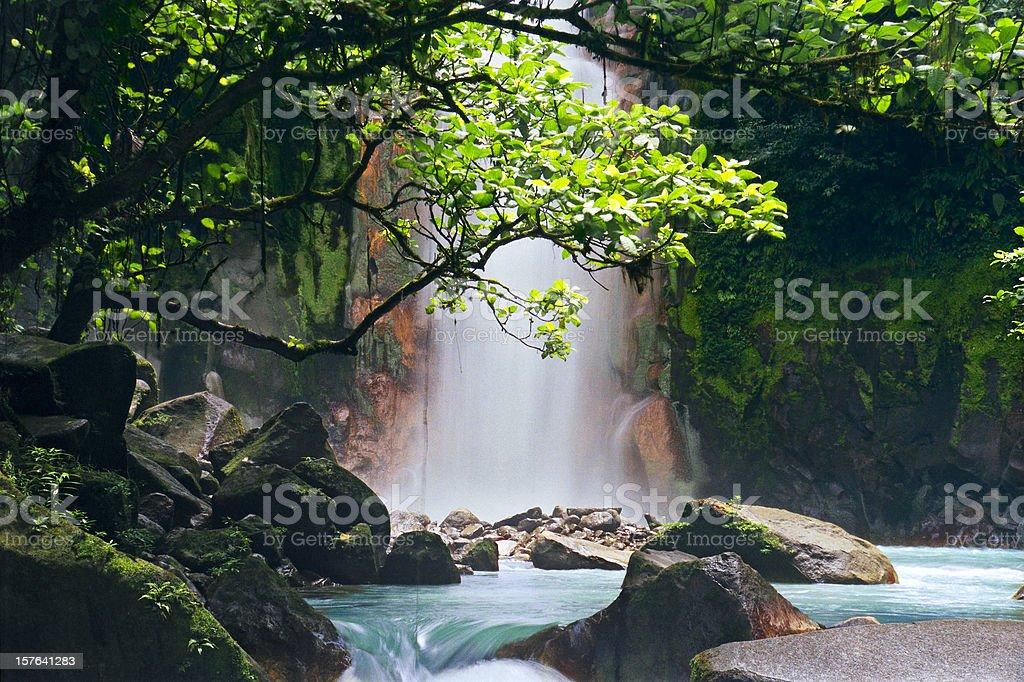 Celeste Falls, Costa Rica stock photo