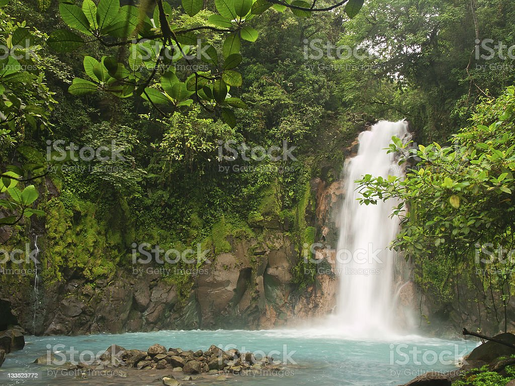Celestial blue waterfall royalty-free stock photo