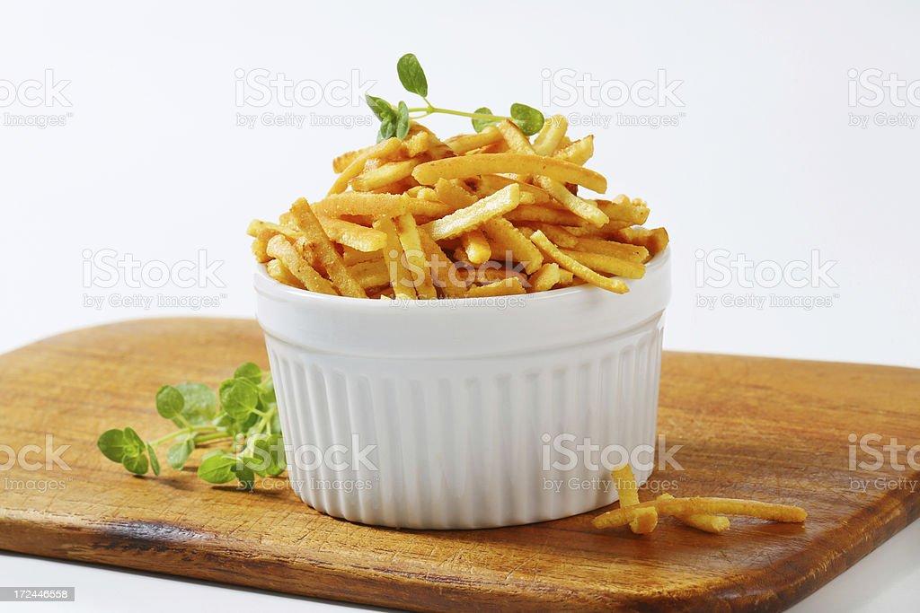 Celestine noodles in a ramekin royalty-free stock photo