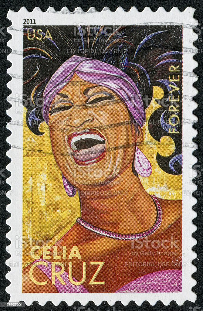 Celia Cruz Stamp royalty-free stock photo