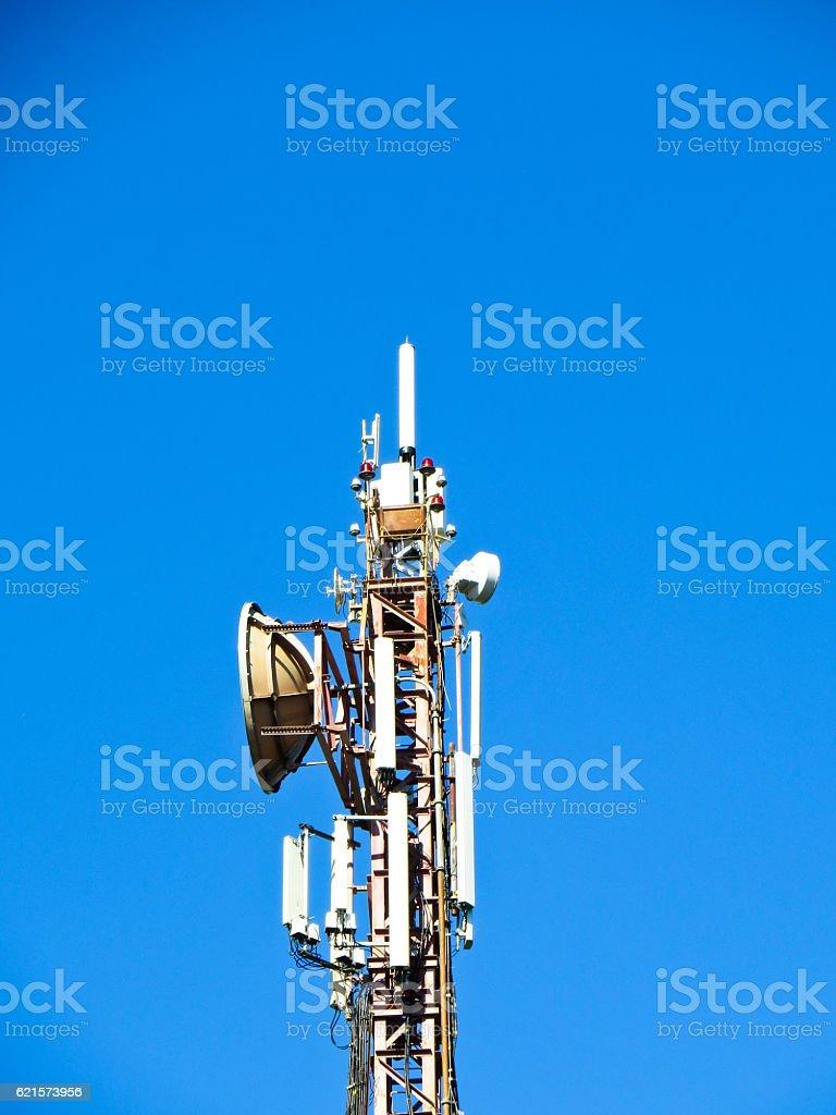 Cell communication tower photo libre de droits