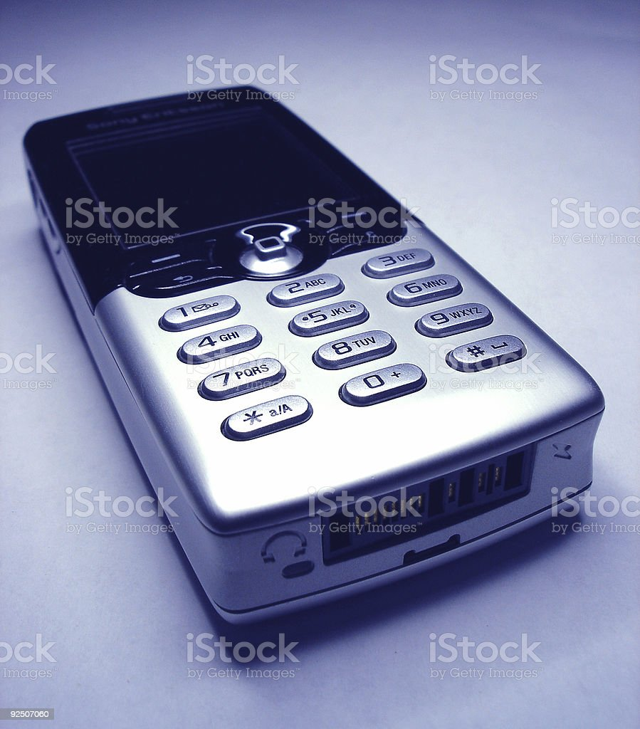 Cell Phone 3/4 view from bottom royalty-free stock photo