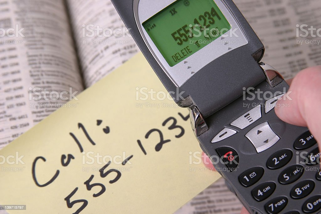 Cell Phone and Phone Book and note royalty-free stock photo