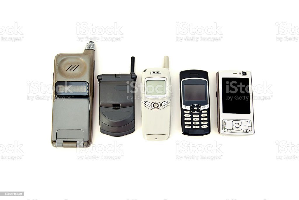 Cell phone development stock photo