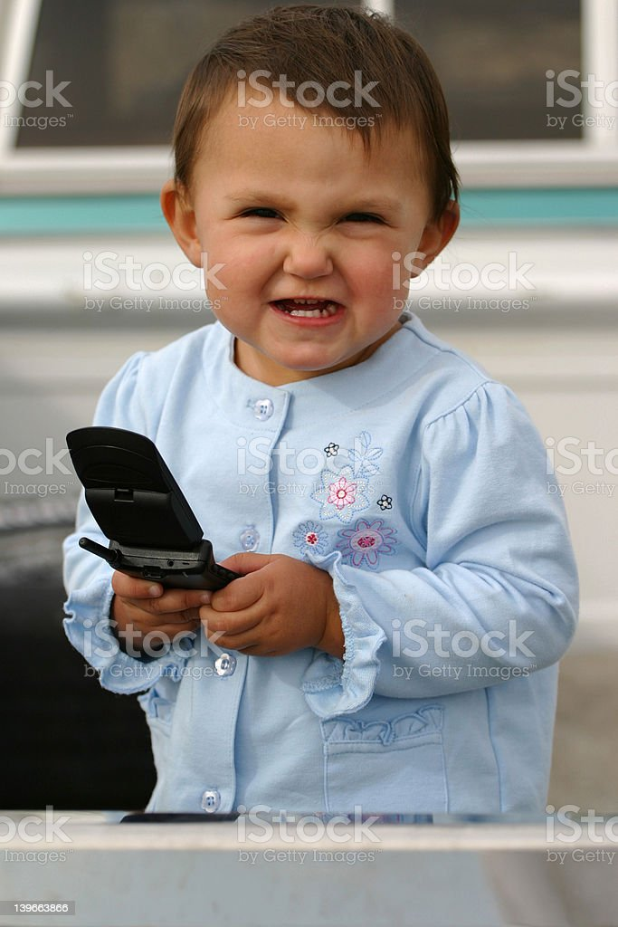 Cell Phone Frustration royalty-free stock photo