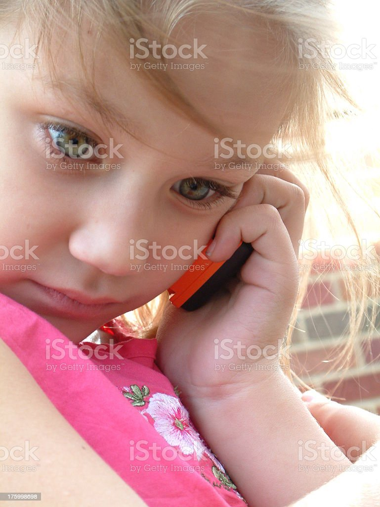 Cell Phone Girl royalty-free stock photo