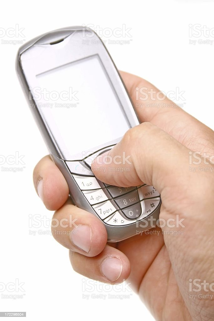 Cell phone in a hand royalty-free stock photo