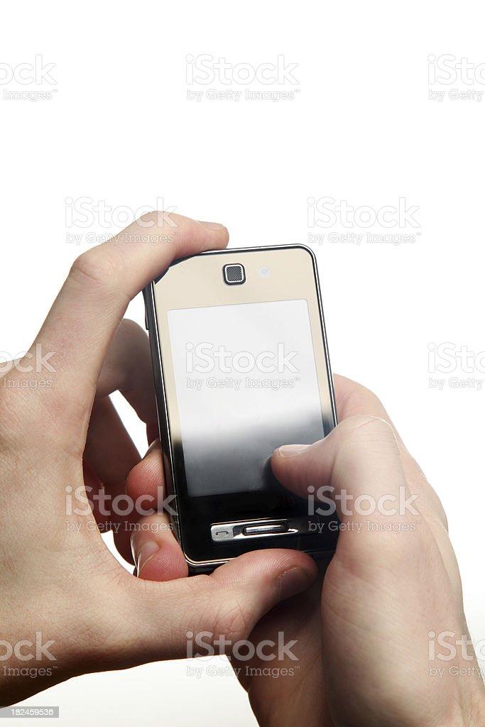 Teléfono celular en mano foto de stock libre de derechos