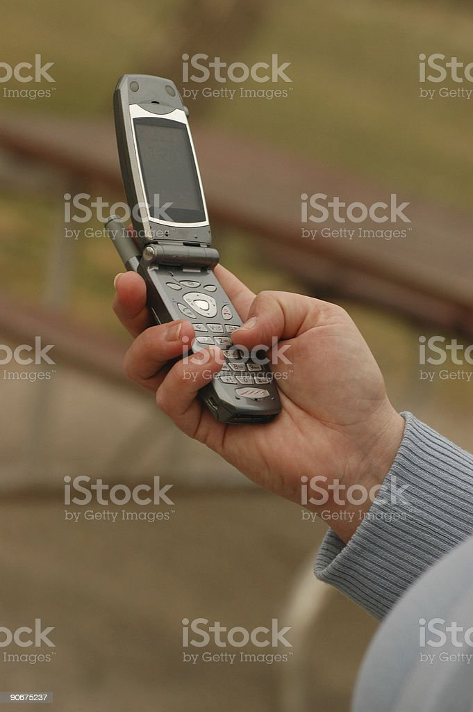 Cell Phone In Hand stock photo