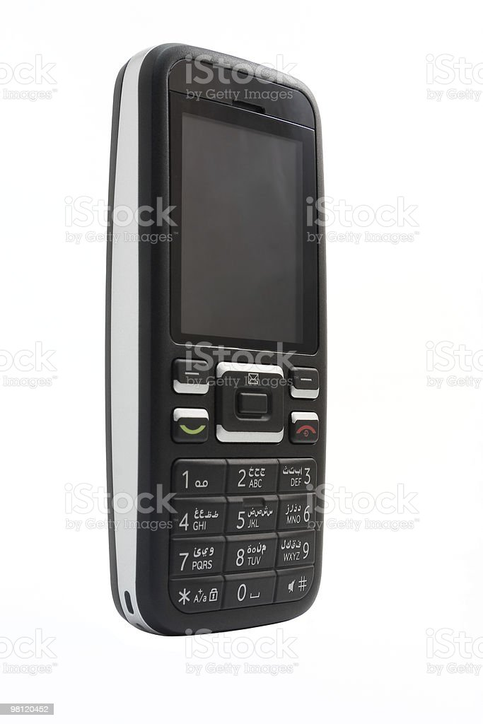 Cell phone isolated on white royalty-free stock photo