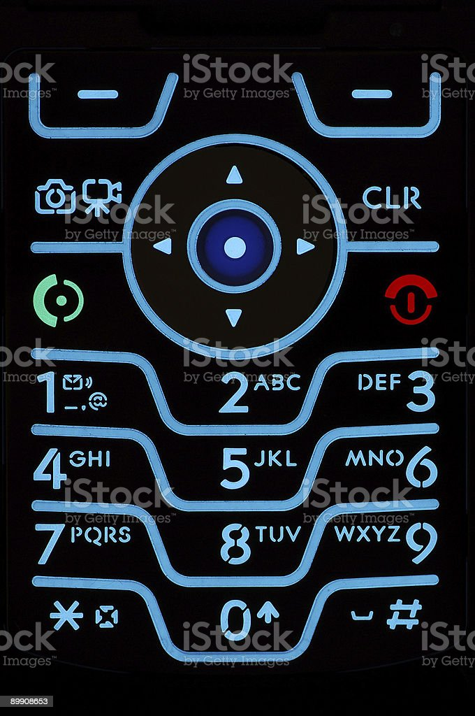 Cell Phone Keypad royalty-free stock photo