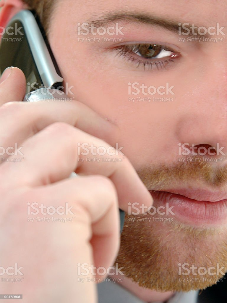 Cell Phone Man royalty-free stock photo