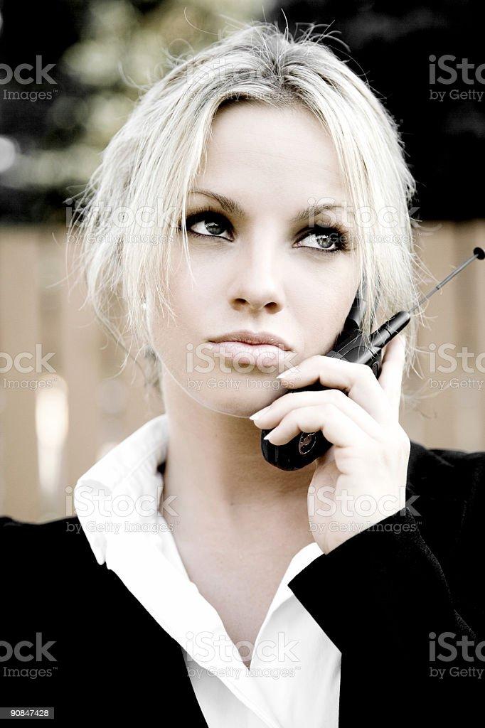 Cell Phone Portrait / Colorized stock photo