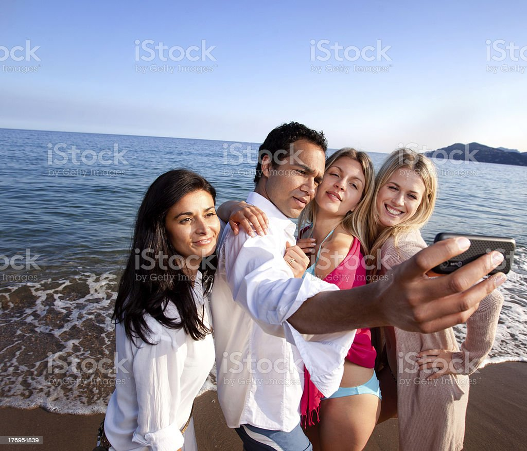 Cell Phone Portrait royalty-free stock photo