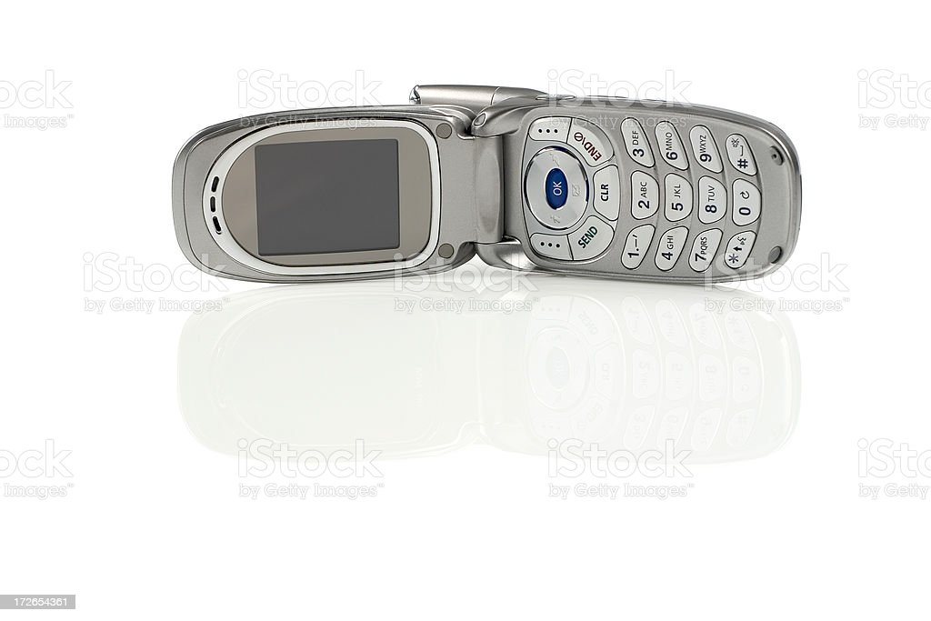 Cell Phone Reflections stock photo