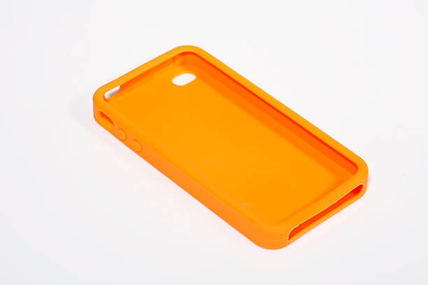 Cell (mobile) Phone Rubber case stock photo