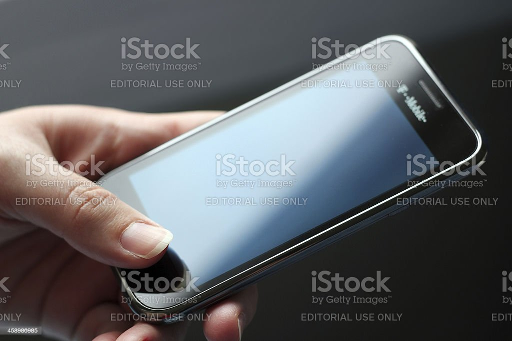 Cell Phone - Samsung Galaxy Android Smartphone 4G royalty-free stock photo
