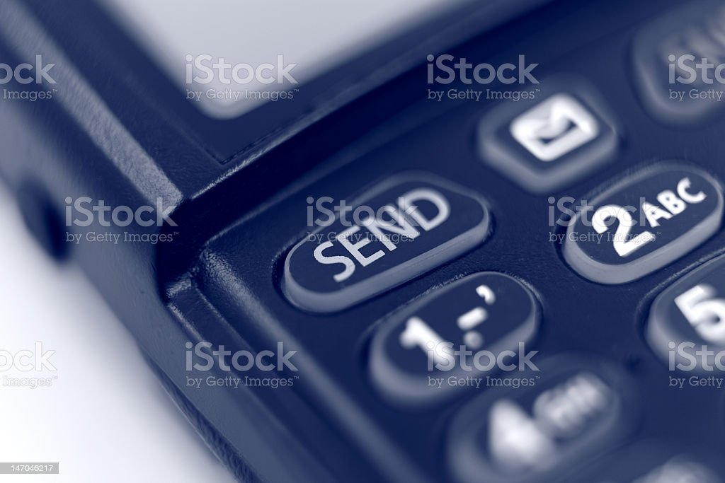 Cell Phone Send Button stock photo