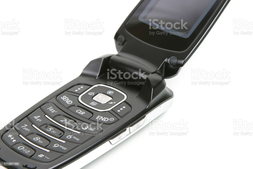 Cell Phone Series (isolated on white) royalty-free stock photo