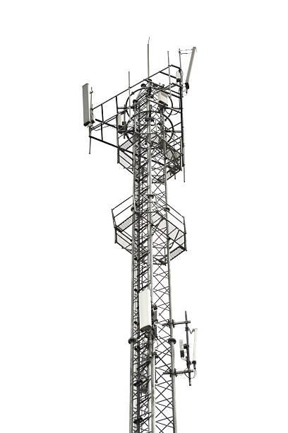 telefono cellulare torre - ripetitore foto e immagini stock