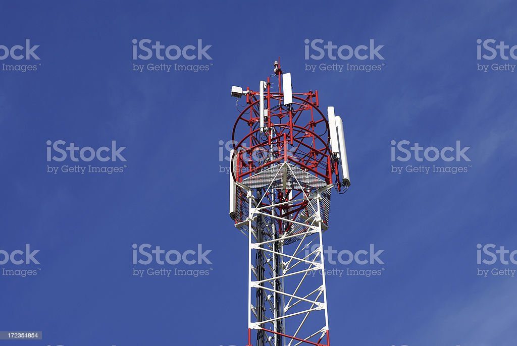 Cell phone tower with copy space royalty-free stock photo